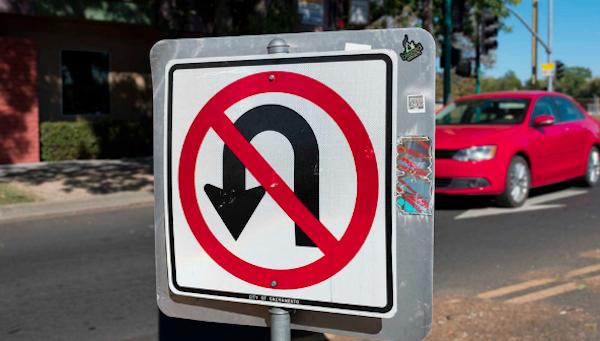 Illegal U Turn in School Zone Nevada