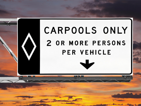 Violaciones del carril de Carpool en Nevada
